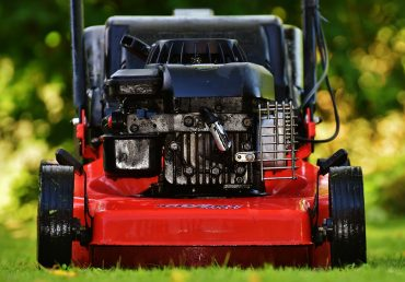 New lawn mower on the best grass seed mixture